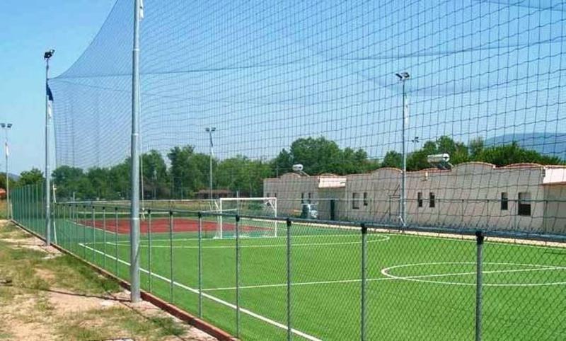 Применение сеток на спортивных площадках