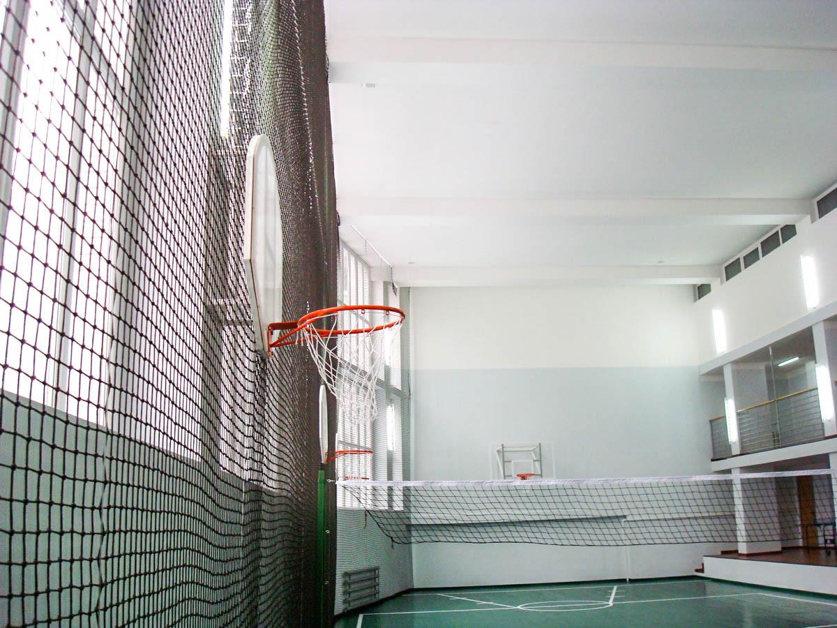 Заградительная сетка для спортзалов
